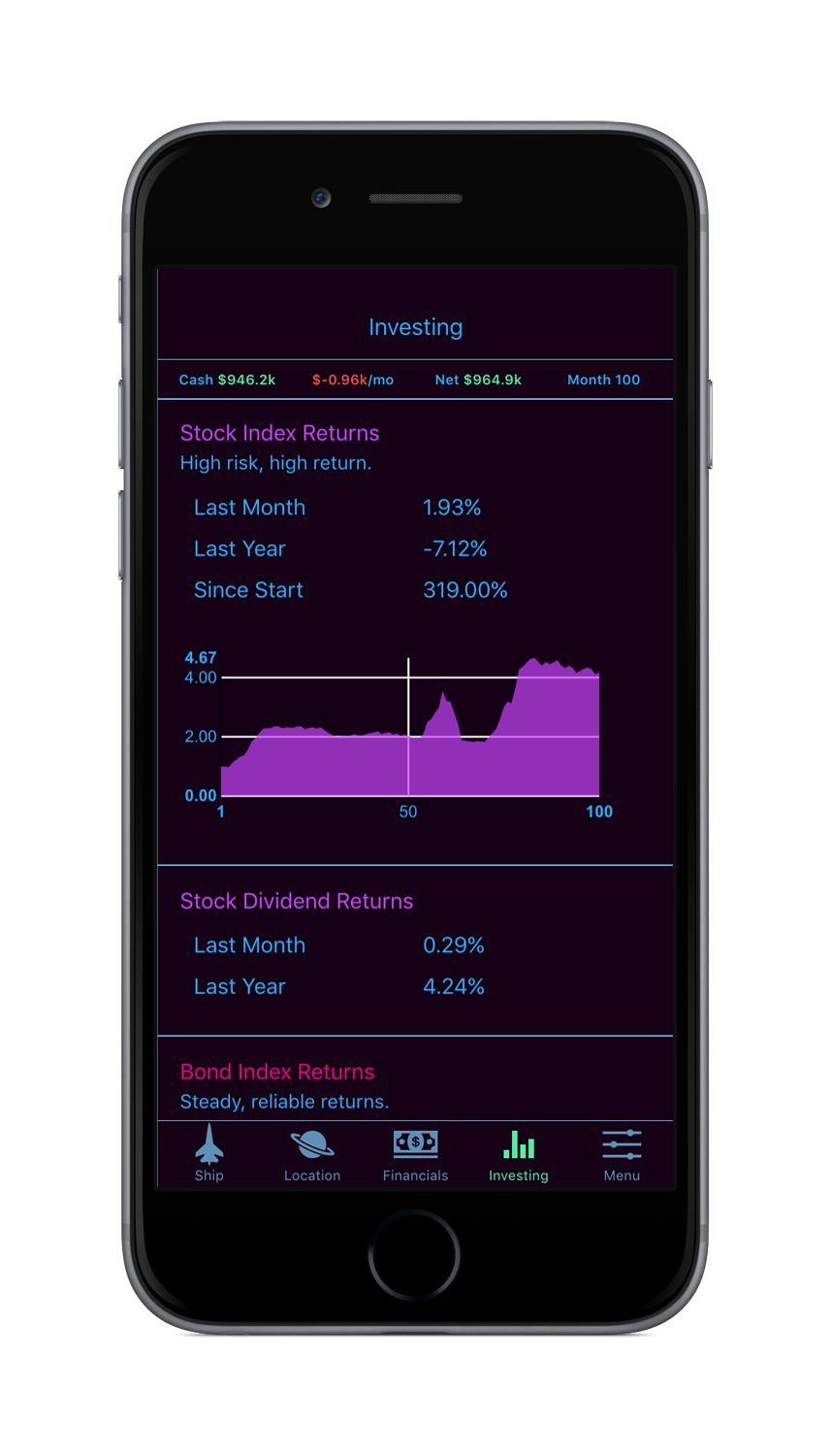 WealthSim Beta App Screenshot 3